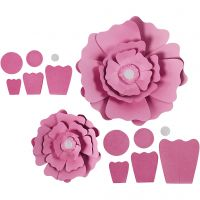 Flores de papel, dia: 15+25 cm, 230 gr, rojo claro, 2 ud/ 1 paquete