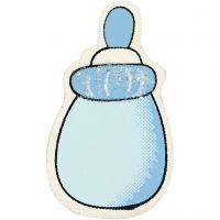 biberón, medidas 22x37 mm, azul claro, 10 ud/ 1 paquete