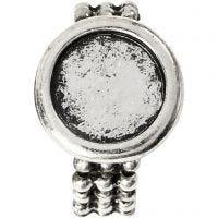 Anillo Cabuchón, dia: 19 mm, medida agujero 14 mm, plata antigua, 1 ud