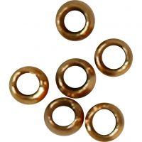 Abalorios ondulados, dia: 2 mm, dorado/plateado, 1000 ud/ 1 paquete