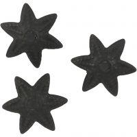 Filigranas espaciadoras, dia: 10 mm, negro, 10 ud/ 1 paquete
