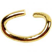 Anillos de salto ovalados, grosor 0,7 mm, dorado/plateado, 50 ud/ 1 paquete