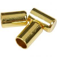 Partes finales, dia: 2,5 mm, dorado/plateado, 50 ud/ 1 paquete