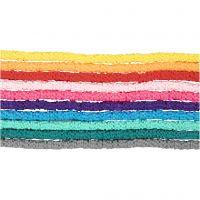 Cuentas de arcilla, dia: 5-6 mm, medida agujero 2 mm, surtido de colores, 10x145 ud/ 1 paquete