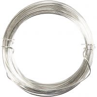 Alambre de plata, grosor 0,8 mm, plateado, 6 m/ 1 rollo