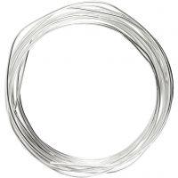 Alambre de plata, grosor 1,2 mm, plateado, 3 m/ 1 rollo