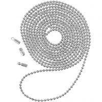 Cadena de perlas, dia: 1,5 mm, plateado, 1 m