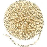 Cadena de joyería, A: 2 mm, dorado/plateado, 2 m/ 1 paquete
