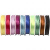Cable elástico, grosor 1 mm, surtido de colores, 10x25 m/ 1 paquete