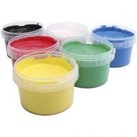 Pintura de dedos PRIMO, surtido de colores, 6x250 ml/ 1 paquete