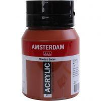 Pintura acrílica Amsterdam, semi transparente, sienna rojizo, 500 ml/ 1 botella