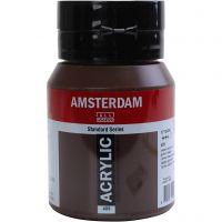 Pintura acrílica Amsterdam, semi transparente, ocre oscuro, 500 ml/ 1 botella