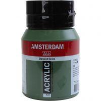 Pintura acrílica Amsterdam, opaco, Olive green deep, 500 ml/ 1 botella