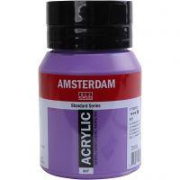 Pintura acrílica Amsterdam, opaco, Ultramarine violet, 500 ml/ 1 botella