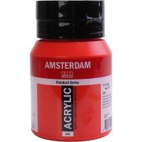 Pintura acrílica Amsterdam, semi opaco, Naphtol red medium, 500 ml/ 1 botella