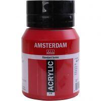 Pintura acrílica Amsterdam, semi opaco, rojo, 500 ml/ 1 botella