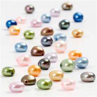 Perlas de agua dulce, medidas 5-6 mm, medida agujero 0,5 mm, 40 cm/ 1 paquete