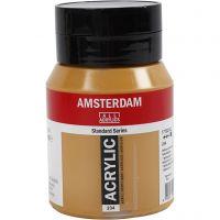Pintura acrílica Amsterdam, opaco, raw sienna (234), 500 ml/ 1 botella