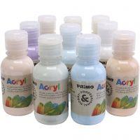 Pintura acrílica de lujo PRIMO, colores pastel, 10x125 ml/ 1 paquete