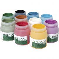 Pintura del exterior, surtido de colores, 10x250 ml/ 1 paquete