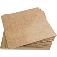 Placas de masonita, medidas 30x30 cm, 20 ud/ 1 paquete