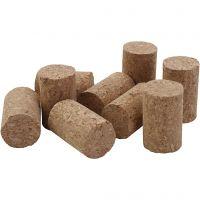Tapones de corcho, A: 4 cm, dia: 2.5 cm, medidas 4x2,5 cm, 50 ud/ 1 paquete