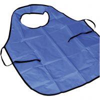 Delantal de pintura con cuello, L. 100 cm, medidas M-XL cm, azul, 10 ud/ 1 paquete