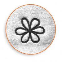 Sello de embossing, Flor, L. 65 mm, medidas 6 mm, 1 ud