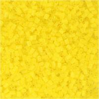 2 cortes, dia: 1,7 mm, medidas 15/0 , medida agujero 0,5 mm, amarillo transparente, 25 gr/ 1 paquete