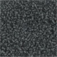 2 cortes, dia: 1,7 mm, medidas 15/0 , medida agujero 0,5 mm, gris transparente, 25 gr/ 1 paquete