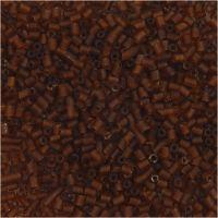 2 cortes, dia: 1,7 mm, medidas 15/0 , medida agujero 0,5 mm, marrón, 25 gr/ 1 paquete