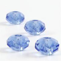 Cuentas facetadas de cristal, 4 ud/ 1 paquete