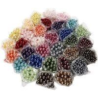 Perlas Lujosas enceradas - Surtido, medida agujero 1,5-2 mm, 32x20 gr/ 1 paquete