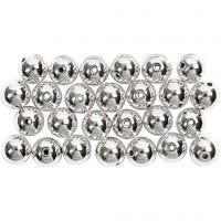 Perlas Lujosas enceradas, dia: 8 mm, medida agujero 1 mm, plata, 50 ud/ 1 paquete