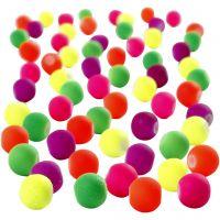 Perlas neón, dia: 6 mm, medida agujero 1,2 mm, 200 gr/ 1 paquete