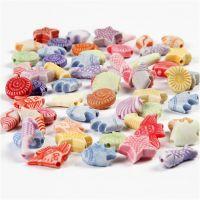 Mix de tonos pasteles, medidas 9-12 mm, medida agujero 1,2 mm, 175 ml/ 1 paquete, 110 gr
