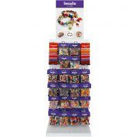 Cuentas de colores, A: 1700 mm, profundidad 300 mm, A: 400 mm, surtido de colores, 120 uds de vta/ 1 paquete