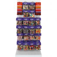 Cuentas de colores, surtido de colores, 120 uds de vta/ 1 paquete