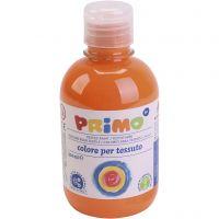 Pintura de textiles, naranja, 300 ml/ 1 botella