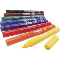 Marcadores de textiles PRIMO, surtido de colores, 8 ud/ 1 paquete