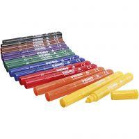 Marcadores de textiles PRIMO, surtido de colores, 12x8 ud/ 1 paquete