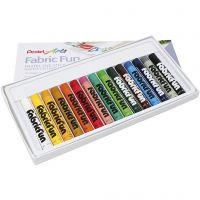 Tiza de costura, surtido de colores, 15 ud/ 1 paquete
