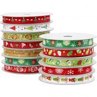 Cinta de Navidad, A: 10 mm, 12x3 m/ 1 paquete
