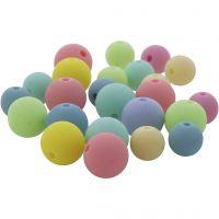 Cuentas pastel, dia: 7+9 mm, medida agujero 1,5 mm, 500 gr/ 1 paquete