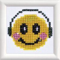 Diamond Dotz, Smiley, medidas 7,6x7,6 cm, 1 paquete