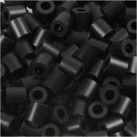 Fuse Beads, medidas 5x5 mm, medida agujero 2,5 mm, medium, negro (32220), 1100 ud/ 1 paquete