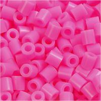 Fuse Beads, medidas 5x5 mm, medida agujero 2,5 mm, medium, rosado (32222), 6000 ud/ 1 paquete