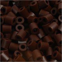Fuse Beads, medidas 5x5 mm, medida agujero 2,5 mm, medium, marrón (32229), 1100 ud/ 1 paquete