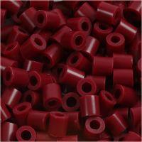 Fuse Beads, medidas 5x5 mm, medida agujero 2,5 mm, medium, burdeos (32239), 6000 ud/ 1 paquete