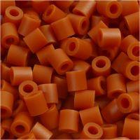 Fuse Beads, medidas 5x5 mm, medida agujero 2,5 mm, medium, rojo marron (32254), 1100 ud/ 1 paquete